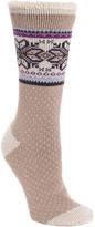 Muk Luks Women's Socks Ivory - Ivory Fair Isle Thermal Socks - Women