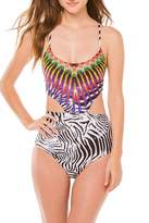 Pilyq Embroidered Phoenix Monokini