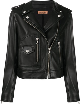 Yves Salomon Zip-Up Biker Jaacket