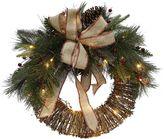 Lloyd & Hannah Pre-Lit Artificial Christmas Wreath
