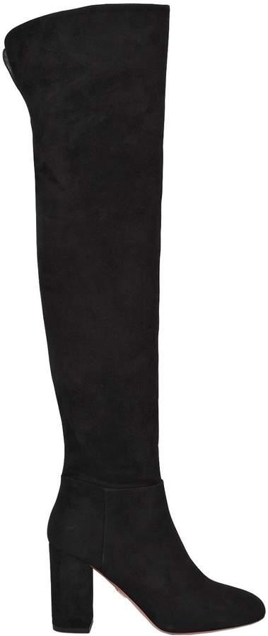 Aquazzura 85mm London Suede Boots