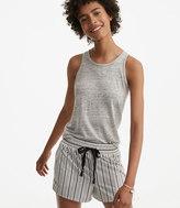 LOFT Lou & Grey Striped Poplin Shorts