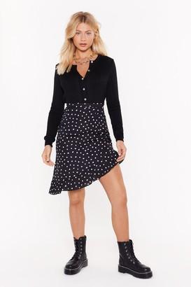 Nasty Gal Womens Who Owns My Heart Ruffle Midi Skirt - black - 6