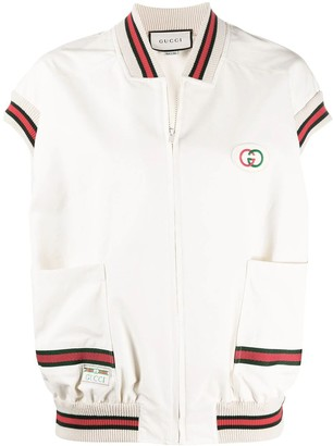 Gucci White Web Trim Vest