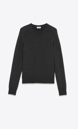 Saint Laurent Wool Sweater Anthracite S