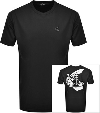Vivienne Westwood Small Orb Boxy T Shirt Black
