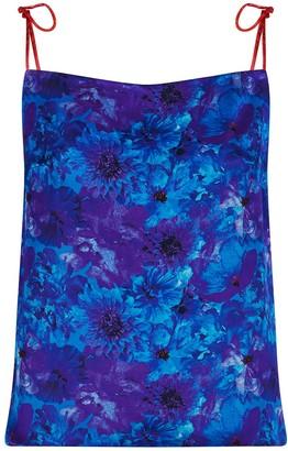 Isabel Manns Reversible Freya Slip Top In Blue Admiral/Coral Reef