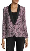 Zadig & Voltaire Velvet Floral-Print Jacket