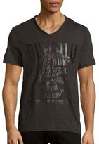 Buffalo David Bitton Nahel Heathered Short-Sleeve Tee