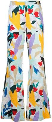 Prabal Gurung Printed Bootleg Trousers
