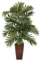 Bed Bath & Beyond Nearly Natural Areca Palm Silk Plant with Bamboo Vase