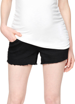 A Pea in the Pod Luxe Essentials Denim Secret Fit Belly Fray Hem Maternity Shorts