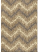 Threshold Chevron Ikat Fleece Rug Beige