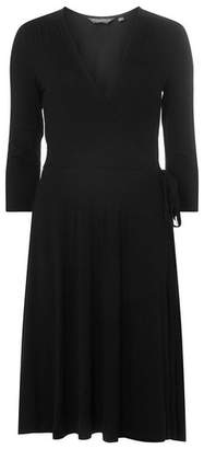 Dorothy Perkins Womens **Tall Black Jersey Wrap Skater Dress, Black