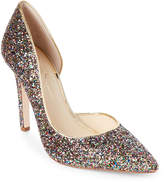 Jessica Simpson Rainbow Claudette Pointed Toe Glitter Pumps