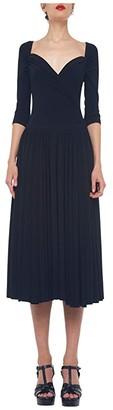 KAMALIKULTURE by Norma Kamali Super Flair Dress (Black) Women's Clothing