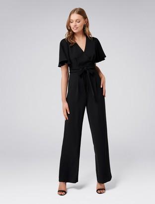 Forever New Gia Flutter Sleeve Jumpsuit - Black - 4