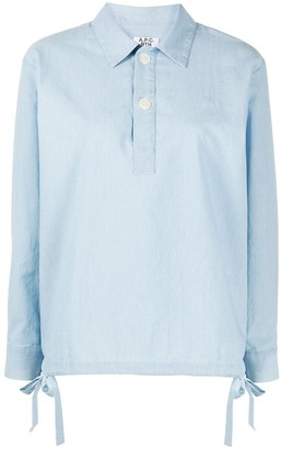 A.P.C. Drawstring Pullover Shirt