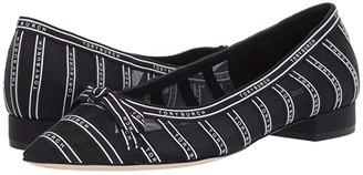 Tory Burch 20 mm Penelope Mesh Flat (Navy/Navy/Ivory) Women's Shoes