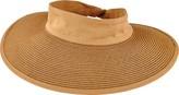 San Diego Hat Company Women's Paperbraid Visor with Elastic Closure PBV010
