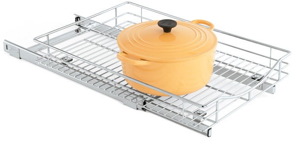 """Container Store 17"""" Roll-Out Cabinet Drawer Chrome"""