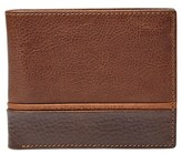 Fossil Men's 'Ian' Leather Bifold Wallet - Brown
