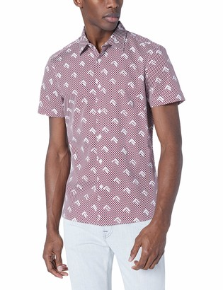 Perry Ellis Men's Slim Fit Arrow Print Shirt
