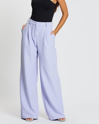Missguided Super High-Waist Wide Leg Trousers