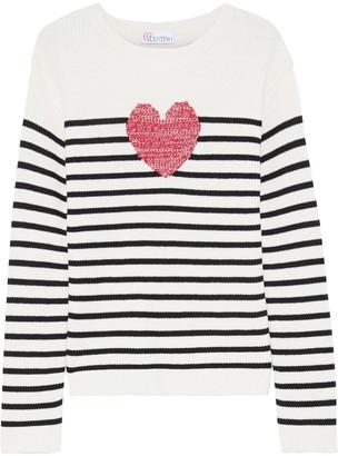 RED Valentino Striped Intarsia Cotton Sweater