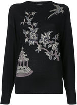 MS MIN floral pattern jumper - women - Silk/Cotton - M
