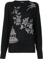 MS MIN floral pattern jumper