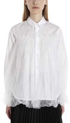 Noir Kei Ninomiya Tulle Detail Shirt