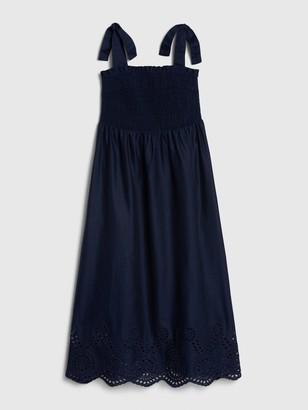 Gap Smocked Tie-Strap Midi Dress