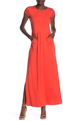 Velvet Torch Solid 2-Pocket Jersey Maxi Dress