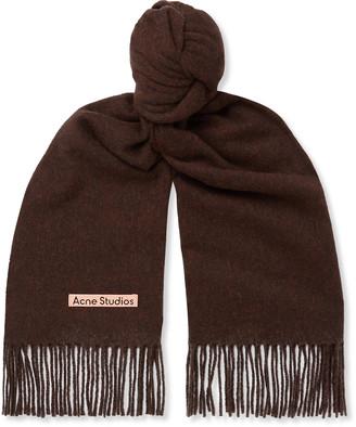 Acne Studios Canada Fringed Melange Wool Scarf