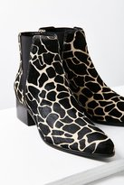 Urban Outfitters Giraffe Print Pony Hair Pola Chelsea Boot