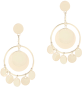 Eddie Borgo Coin Disc Statement Earrings