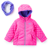 Pacific Trail Pink & Purple-Accent Puffer Jacket & Neckwarmer - Toddler & Girls