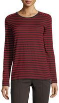 Akris Punto Colorblock-Striped Pullover Top