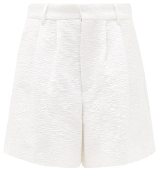 Raey Wide-leg Cotton-blend Boucle Skate Shorts - White