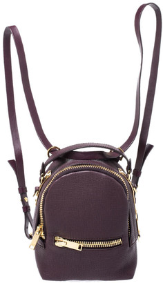 Sophie Hulme Burgundy Leather Mini Wilson Backpack
