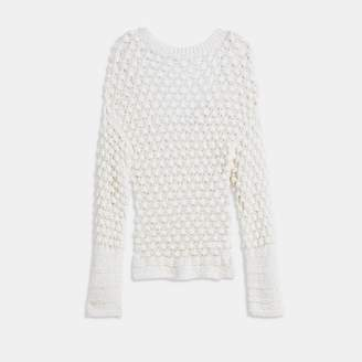 Theory Lace-Stitch Pullover