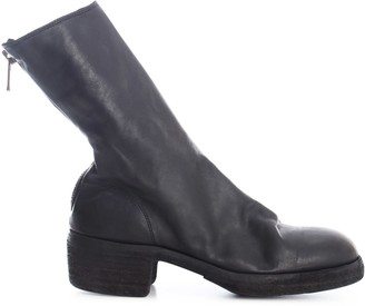 Guidi Back Zip Mid Boots Thick Sole Leather