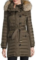 Burberry Pipleigh Hooded Puffer Jacket, Mink Gray
