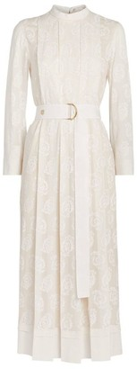 Chloé Silk Embroidered Dress
