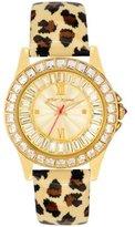 Betsey Johnson Women's BJ00004-02 Analog Leopard Printed Strap Watch