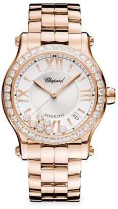 Chopard Happy Sport 18K Rose Gold & Diamond Watch