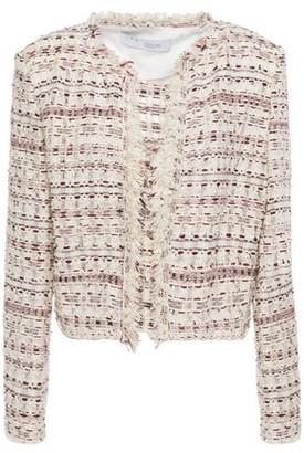 IRO Locali Cropped Frayed Boucle-tweed Jacket