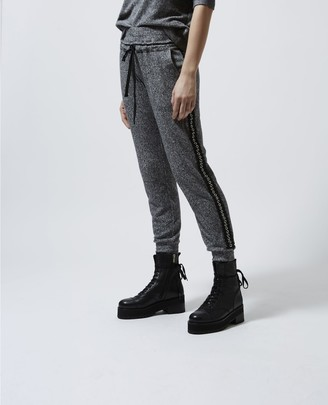 The Kooples Grey fleece joggers with lace trims