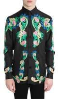 Versace Miami Signature Silk Button-Down